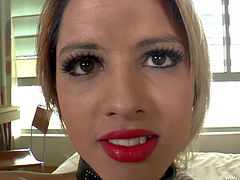 Melzinha Bonekinha is a lovely flat chested shemale with heavy make-up. Skinny dicky girl has a nice time stroking her fat dick for the camera. Watch TS Melzinha Bonekinha jack off for you to watch and enjoy!