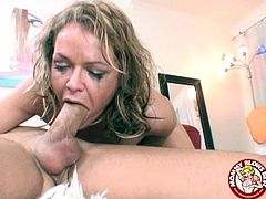 Kelly Leigh can deep throat a mean dick as you'll be able to see in this hot video where she ends up with messed up make up and teary eyes.