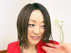 Fresh faced Japanese amateur hooks up with her long-term BF for steamy sex session. She takes off her clothes in order to observe her firm full tits and bearded vagina, which he polishes thoroughly in peppering sex clip by Jav HD.