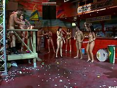 These lascivious hotties are dick drunk and they hardly aware of what's going on around them. This is a wild orgy party and no one wants it to end anytime soon!