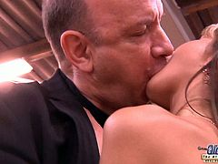 Gina Gerson is a stunning blonde teen babe with nice body. She is seduced by a priest and he nails her tight pussy like a real pro!