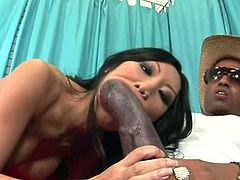 Slutty asian babe Tia Ling feels amazing with a monster cock into her fine pussy