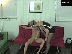 Hot blonde likes dominating her humiliated partener during naughty femdom porn scene