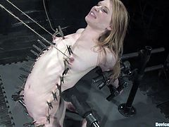 After taking these two girls off their cage, Isis Love will proceed on using clothespins and diverse bondage devices to torture them for fun!