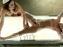 Cassandra Nix and Chanel Preston feature this female domination video with strapon sex, lesbianism and more BDSM kinky stuff.