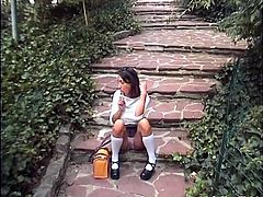 Slutty teen in sexy school uniform shows some solid skills in cock riding, She rides a big fat cock with her tiny asshole. The cock goes as deep as possible and not every chick would be able to handle this.Enjoy!