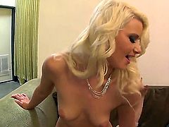 Gorgeous blonde dominant babe Anikka Albrite rides up face of her obedient boyfriend Eric Jover ordering him to perform cunnilingus and rimming to her! See the action!