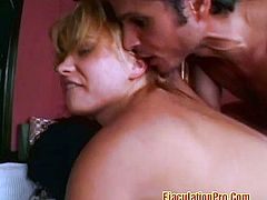 Hot blonde gets double dicked