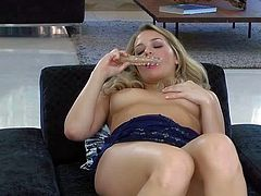 Mia Malkova is a 2 year old sexy chick that shows off her body and toy fucks her snatch with smile on her pretty face. Watch deliciously sexy chick masturbate for cam. She does it in a playful manner.