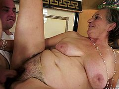 This granny is in for a great time when a cock -that could well belong to her grandson- fucks her pussy hard. She also sucks it with passion.