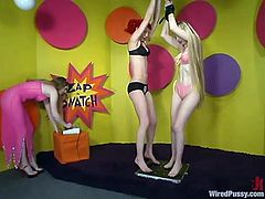 Lesbian BDSM threesome is something that we want to present to your attention. Three dirty minded girls got some tools and toys to humiliate each other!