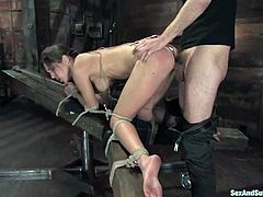 So this BDSM video is pretty hot and wild! This naughty and kinky babe Kiera King is enjoying her time, being objected to some insane pain!