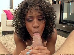 A messy facial for Misty Stone after she sucks cock