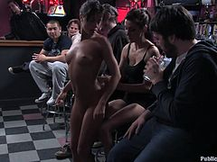 Dirty brunette cum whore with a great ass gets spanked and fucking toyed with in this kinky bondage scene right here! Check it out!