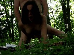 Beauty And The Senior sex clip provides you with a voracious brunette bitch. She wanders in the woods picking up berries and other stuff. Then slutty busty gal meets a spoiled fat greay haired man. She doesn't waste time, sucks his old strong cock and gets her wet pussy pounded mish right on the log.