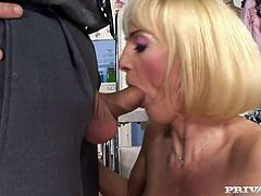 There's a mature blonde in here and she's going to have sex with her doctor. Not any sex, though: anal sex!