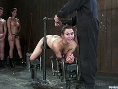 A kinky fucking slut gets tied up and abused by another chick and a dude in this intense bondage scene right here, check it out!