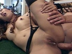 Busty Asian whore riding thick cock deep inside her tight oriental pussy and wet anal hole for one extreme encounter.