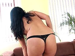 A mature brunette bitch gets naked for the camera and fucking sticks a hard toy in her fucking pussy, check it out! It's fucking hot!