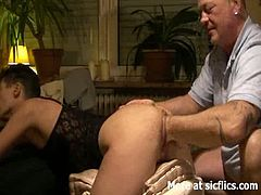 Check out this horny amateur mature. She is involved into a hardcore fisting with her husband. He sticks his fist down to the elbow!
