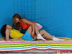 Appetizing sweet teens strip one another chilling on a loan outdoor. They enjoy caressing fresh sexy body of each other having hot lesbian foreplay.