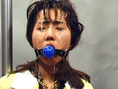 Alluring japanese gal enjoys massive pleasure in amazing BDSM fuck