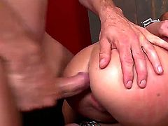 Two men are doing a lot of different kinky things with nasty enslaved bitch Anita Berlusconi. They are stuffing all of her loving holes by their big penises drilling her so wild!