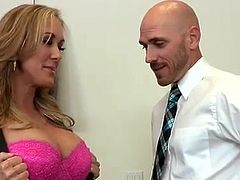 Big racked lady boss Brandi Love in heat