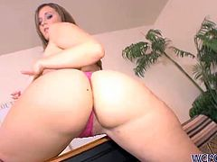 Hot babe Mariah Kiss shows off her amazing ass and reveals her slutty side as she gets her pussy fucked hard in all  positions by a huge black cock!