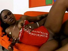 Dark-haired nympho Nikole Richie loves sex more than anything on Earth! She gets into sideways position to get her juicy muff fucked hard. He pounds her ruthlessly in and out until he sprays his seed all over her face.