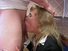 This mature slut gets a big fist inside her pussy and about four fingers in her ass hole. She also gets a cock inside her ass hole and cum in her eyes.