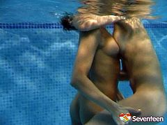 When two sexy chicks get together, you can be sure that things are going to get hot. The girls are swimming naked in the pool, caressing one another sensually and passionately. Check out this hot sex video now to see what else these naughty gals are up to.