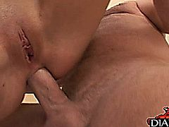 Super hot brunette porn star Rebecca Linares loves nothing more than to get anal fucked and face creamed!! She gets drilled and skull fucked here so good and you don't want to miss anything from this hardcore action! Enjoy watching this gorgeous bodied adult star showing her great fucking skills!!