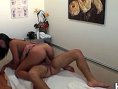 Daniel Hunter is getting unforgettable intimate massage from Katreena Lee. The Asian chick gives her best to him before getting her sweet vagina pounded very hard.