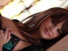 Newly brunette Alexis teases and pleases in this hot solo performance.