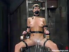 Hot blonde Jenni Lee gets drowned and tortured in a basement