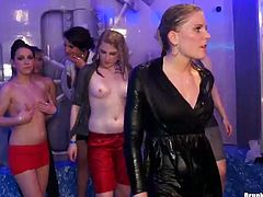 Join the most dissolute party produced by Tainster porn site. A lot of topless babes are dancing and fondling each other on the dance floor. Enjoy hem all right now.