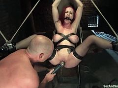 Well, this redhead siren is loving her time, being tortured hard and wild. She gets a lot of different pain and that variety makes her be sexcited!