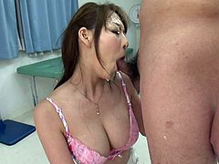 Hot tempered oriental slut with hell working mouth hole gives steamy blowjob and later gets a messy facial. Enjoy Jav HD sex tube video for free.