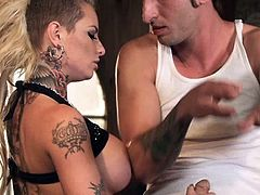 These bitches are hot, but the punk babe is the hottest and sluttiest too! She's this guy's favorite and if you wanna know why, then just check her out how she fucks! The fucking bitch gives an awesome head, bites his dick and swallows it all the way in. Enjoy it!