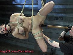 This horny brunette deserves nothing, but only hardcore punishment. She got her pussy stretched with various toys like never before!