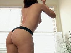 Check out this sweet-ass scene featuring this tight broad as she gets naked and sticks fingers in her pink-ass snatch. Check it out!