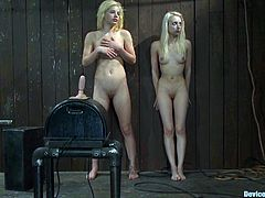 The blondes Ashley Jane and Princess Donna Dolore are getting dominated by another girl in this femdom bondage BDSM video packed with hot kinky lesbian action.
