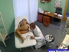 Sexy patient sucked before hardcore from her doctor in hd