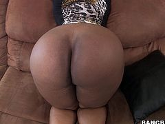 Interracial POV sex with ebony babe and her amazing big ass