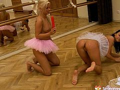 Adorable babes with sweet faces wearing tutu skirts are looking pretty much like professional ballerinas. But they perform sex scenes even better than dance. Check them out in a hot Seventeen Video XXX free porn clip.
