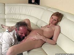 Perverse overaged gynecologist seduces a sizzling pregnant long haired blond chic during medical examination. He tongue fucks her delicious shaved pussy first before she clings to his sturdy penis to give a blowjob in sultry sex video by 21 Sextury.