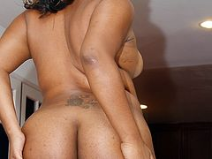 Gorgeous ebony bitch is very fond of good dicks