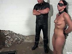 This booty and busty brunette babe Julie Night is under some severe torture! She gets lured and tied up. At the end honey rides a huge cock!