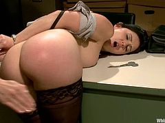 Sexy Angell Summers and Maitresse Madeline take their clothes off and have an amazing lesbian sex. They fist and toy each others asses and pussies.